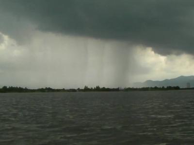 琵琶湖の大雨