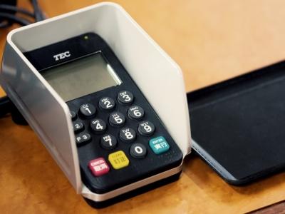 クレジットカードの決済機